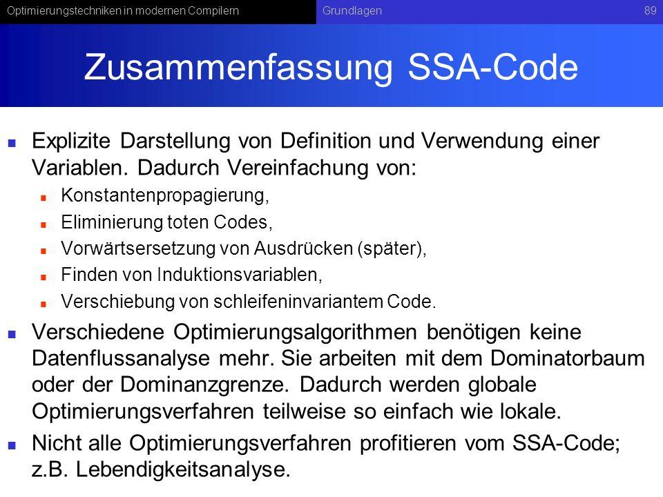 Zusammenfassung SSA-Code