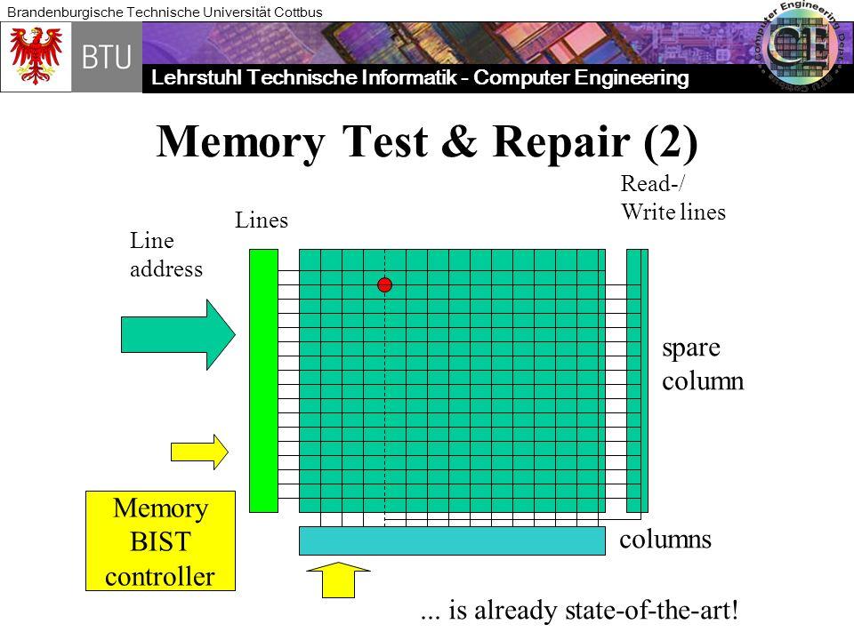 Memory Test & Repair (2) spare column Memory BIST columns controller