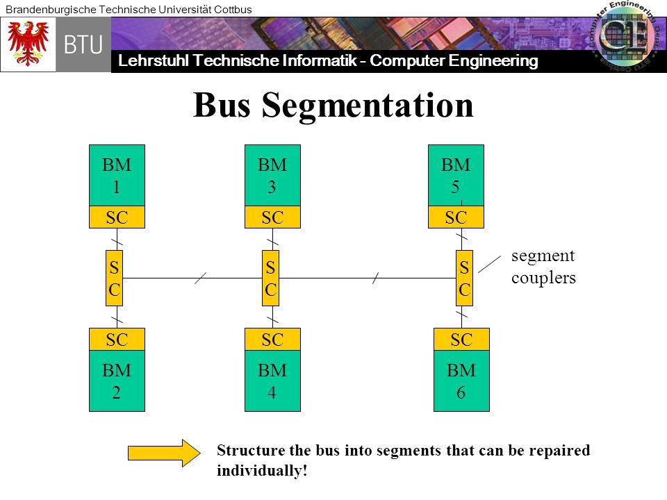 Bus Segmentation BM 1 BM 3 BM 5 SC SC SC segment couplers S C S C S C