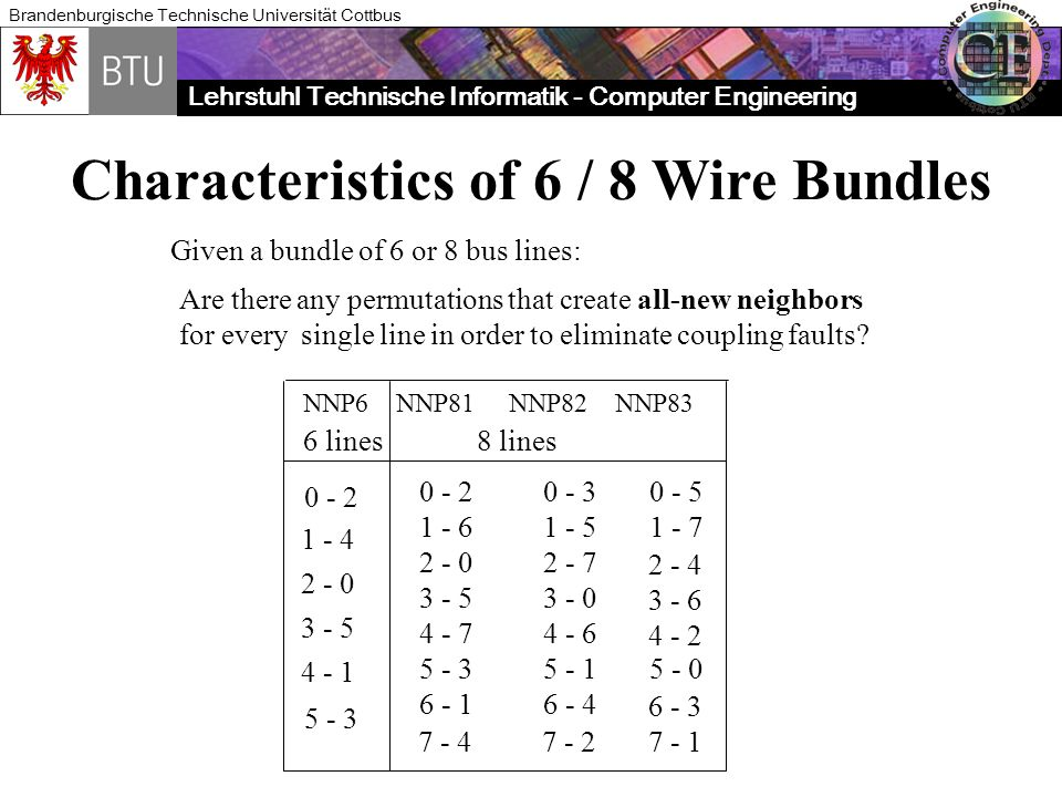 Characteristics of 6 / 8 Wire Bundles