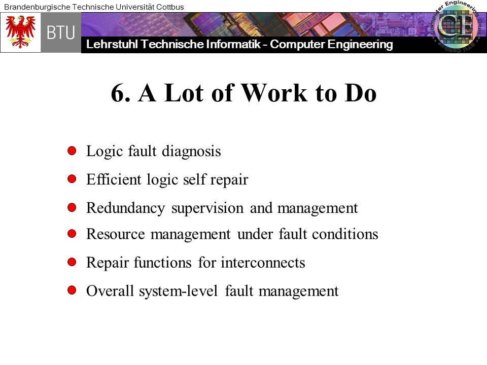 6. A Lot of Work to Do Logic fault diagnosis