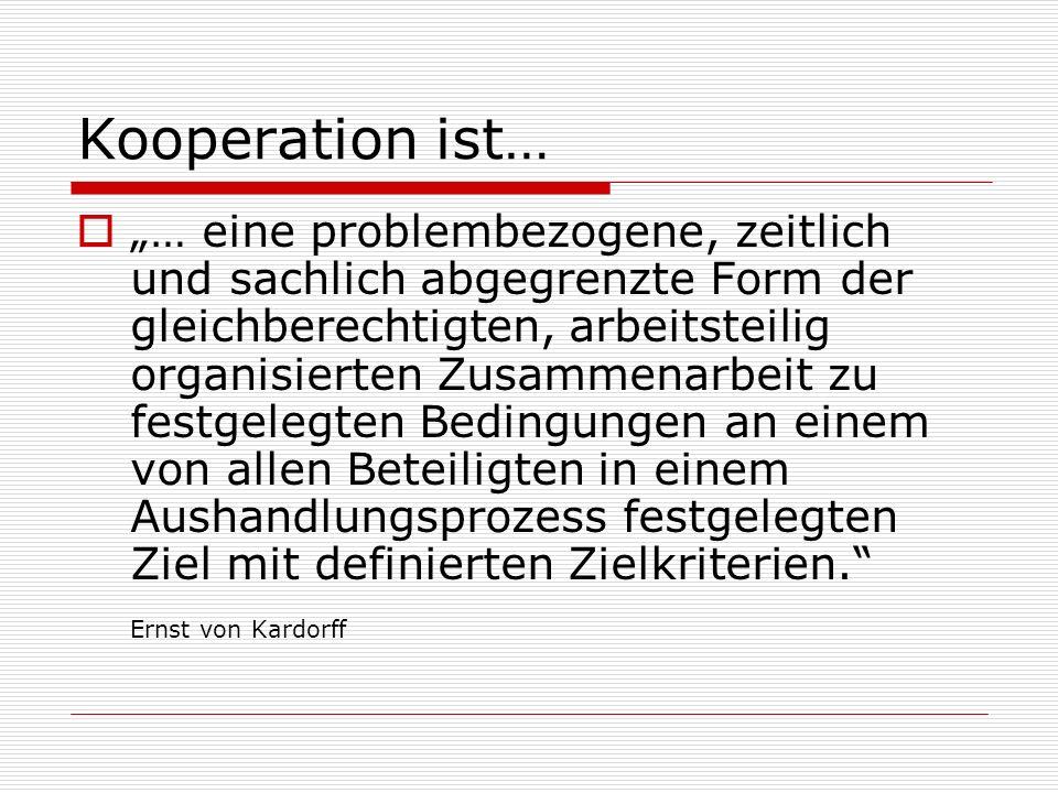 Kooperation ist…