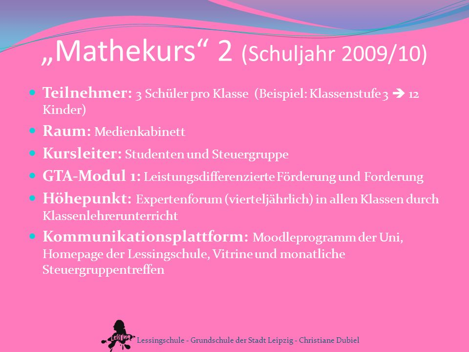 """""""Mathekurs 2 (Schuljahr 2009/10)"""