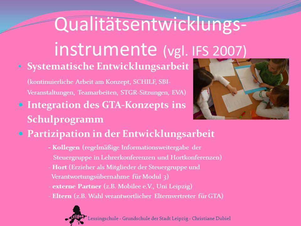 Qualitätsentwicklungs-instrumente (vgl. IFS 2007)