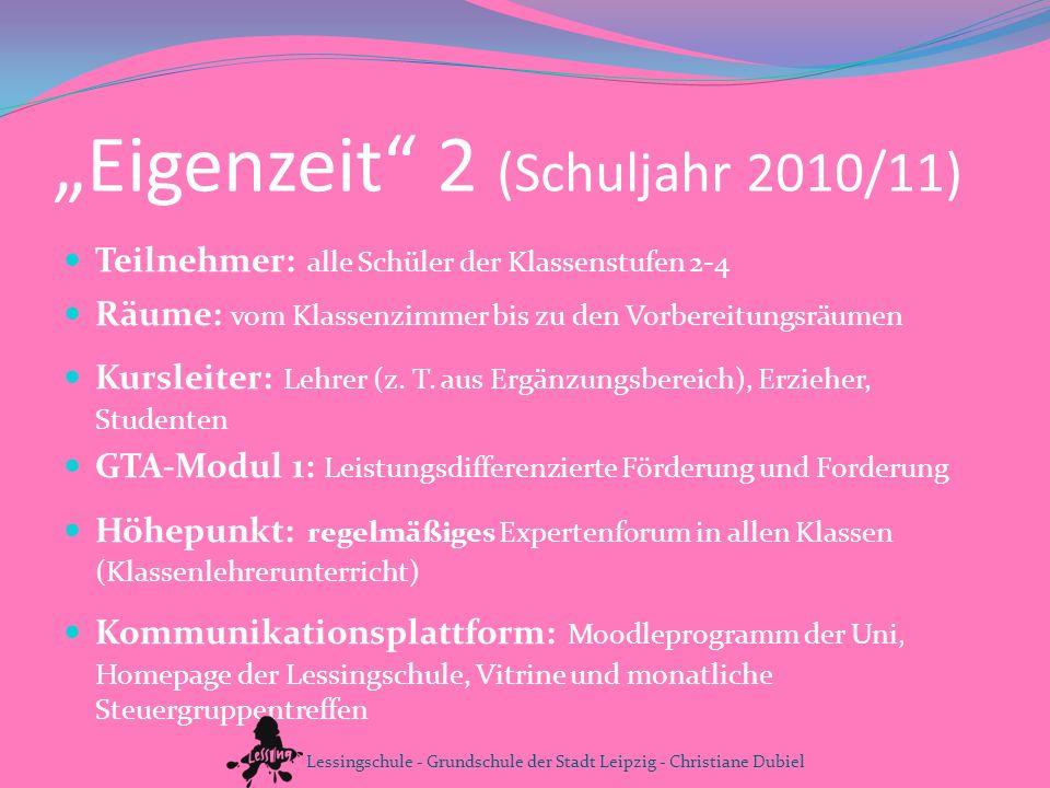 """""""Eigenzeit 2 (Schuljahr 2010/11)"""