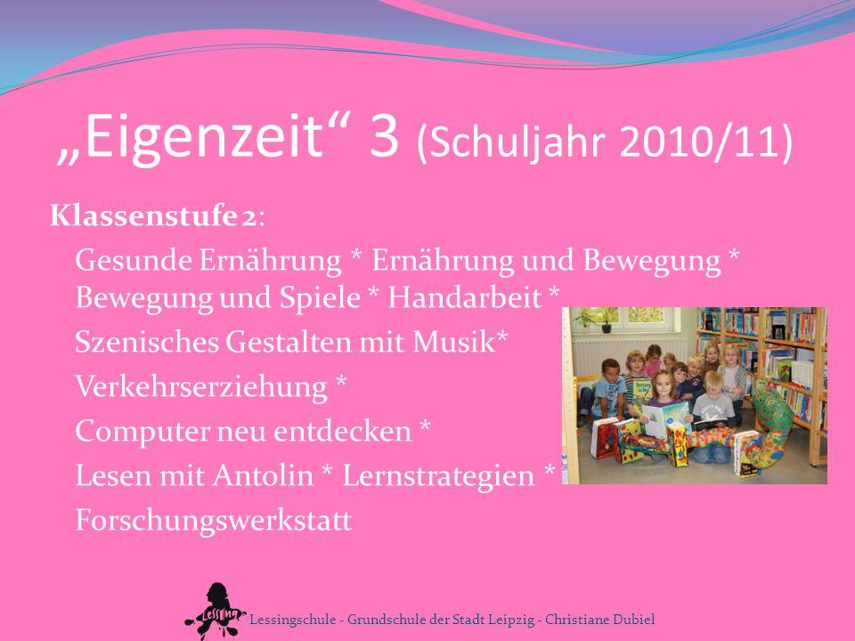 """""""Eigenzeit 3 (Schuljahr 2010/11)"""