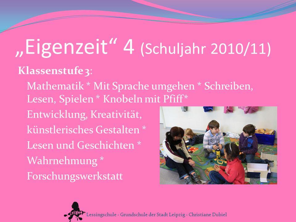 """""""Eigenzeit 4 (Schuljahr 2010/11)"""