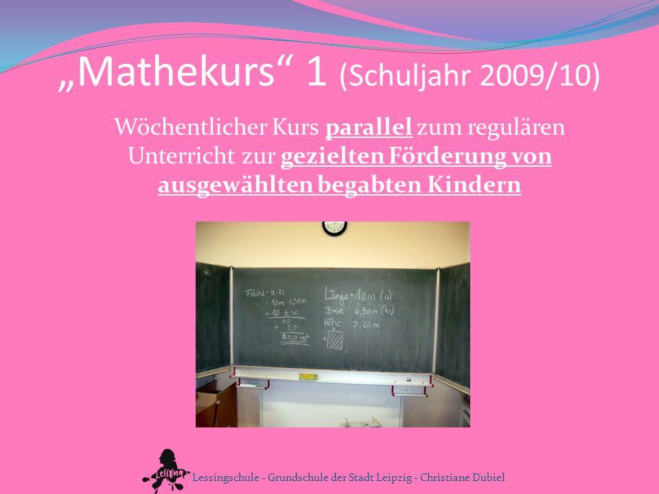 """""""Mathekurs 1 (Schuljahr 2009/10)"""