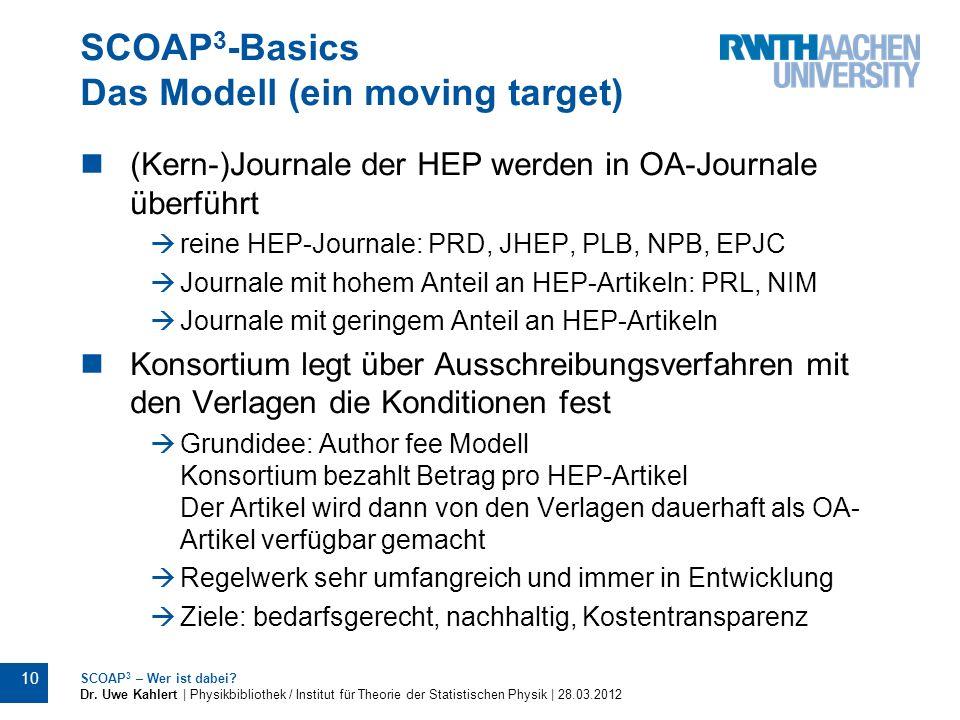 SCOAP3-Basics Das Modell (ein moving target)
