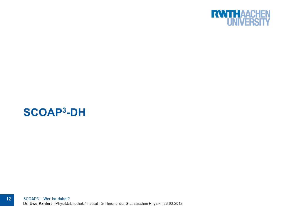 SCOAP3-DH SCOAP3 – Wer ist dabei