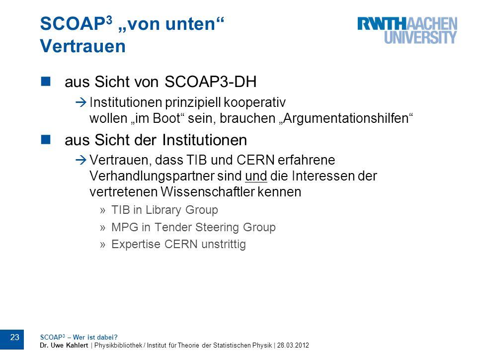 """SCOAP3 """"von unten Vertrauen"""