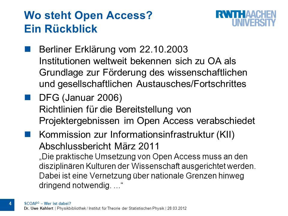 Wo steht Open Access Ein Rückblick