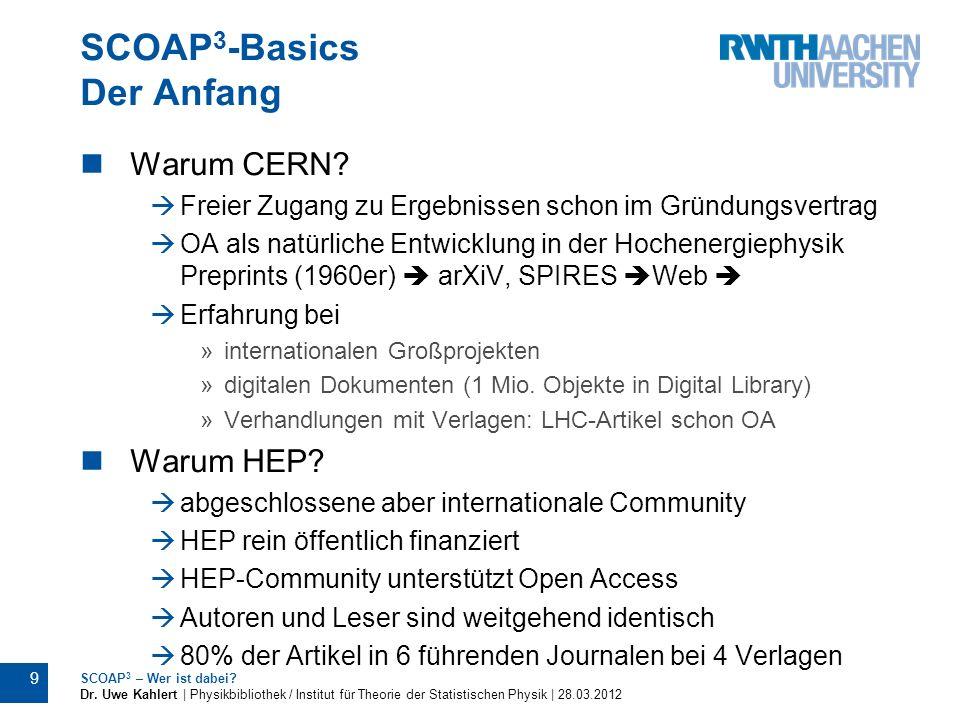 SCOAP3-Basics Der Anfang
