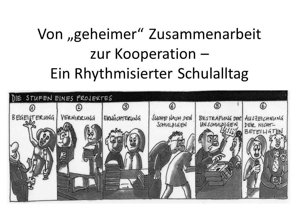 """Von """"geheimer Zusammenarbeit zur Kooperation – Ein Rhythmisierter Schulalltag"""