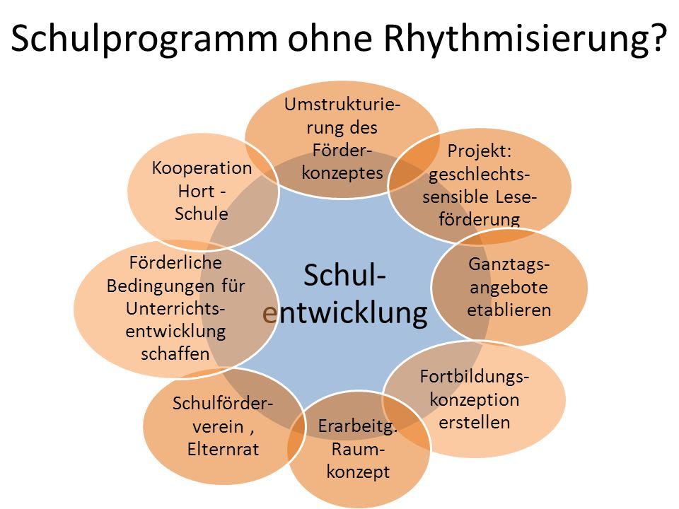 Schulprogramm ohne Rhythmisierung