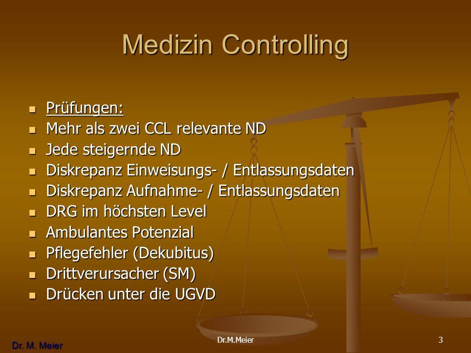 Medizin Controlling Prüfungen: Mehr als zwei CCL relevante ND