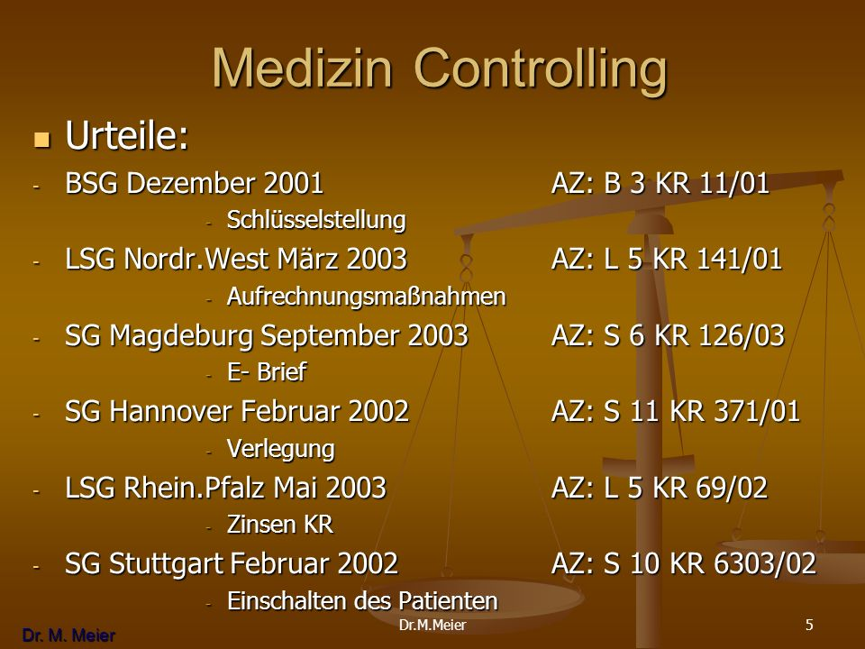 Medizin Controlling Urteile: BSG Dezember 2001 AZ: B 3 KR 11/01