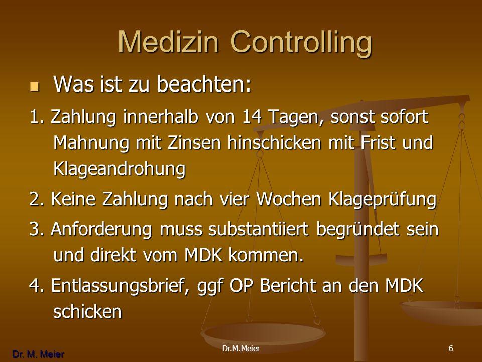 Medizin Controlling Was ist zu beachten: