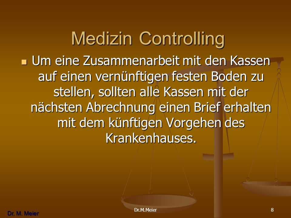 Medizin Controlling