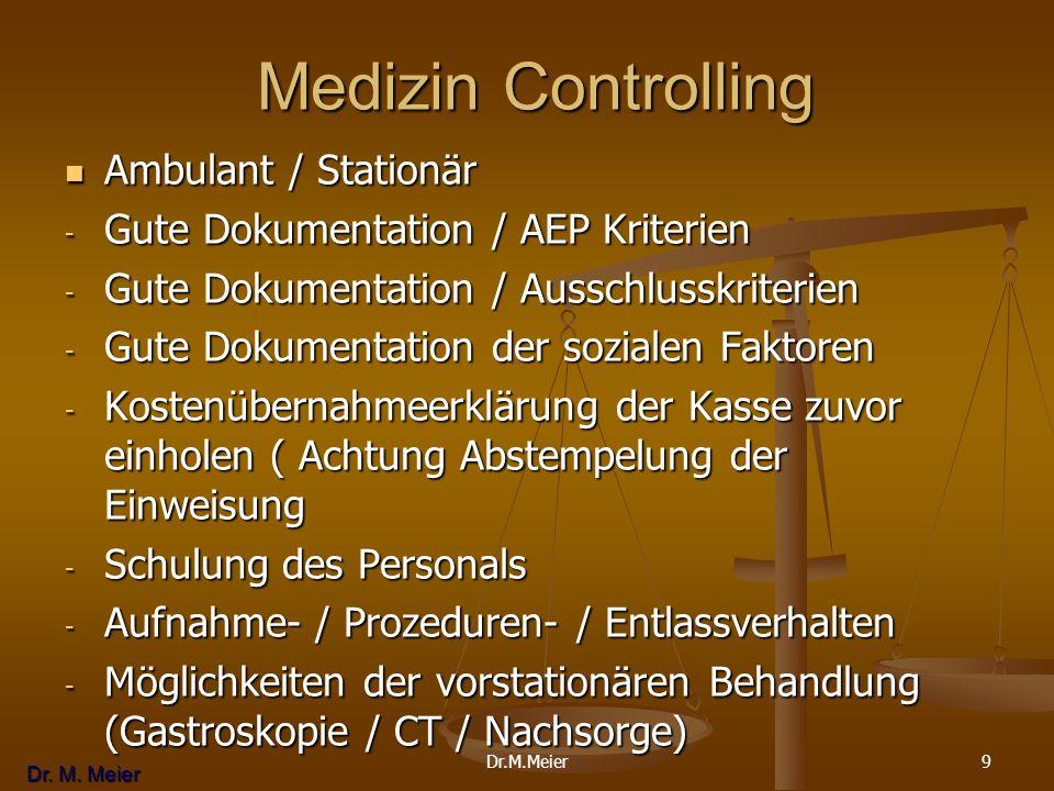 Medizin Controlling Ambulant / Stationär