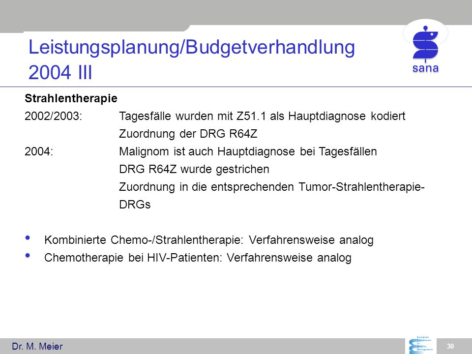 Leistungsplanung/Budgetverhandlung 2004 III