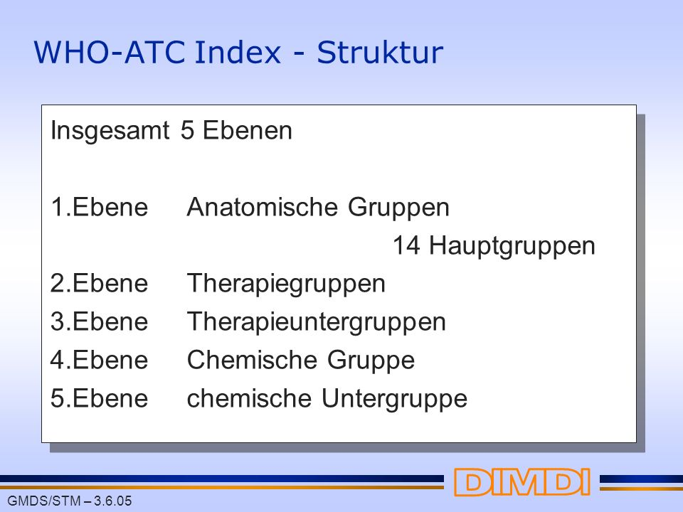 WHO-ATC Index - Struktur