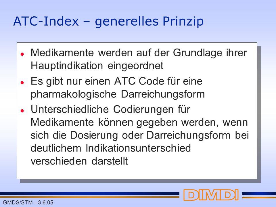 ATC-Index – generelles Prinzip