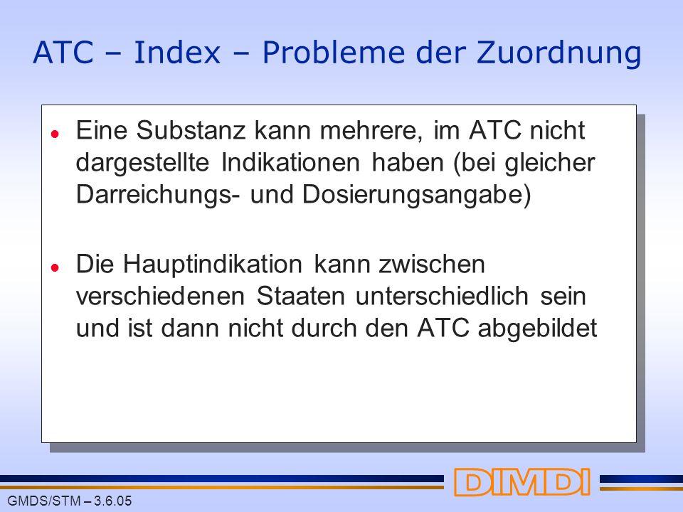 ATC – Index – Probleme der Zuordnung