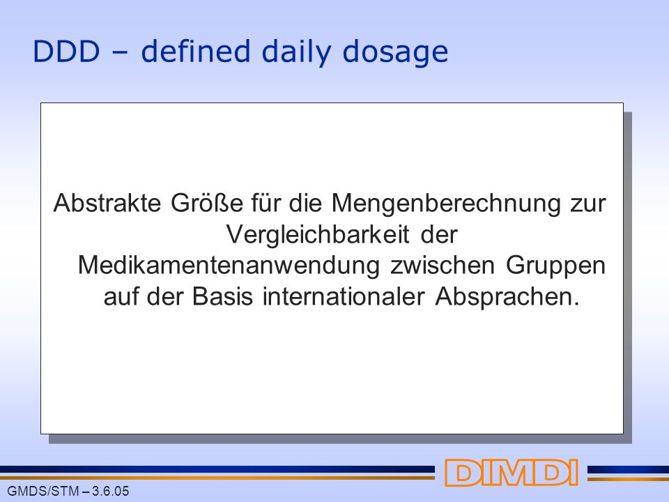 DDD – defined daily dosage