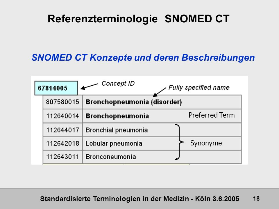 Referenzterminologie SNOMED CT