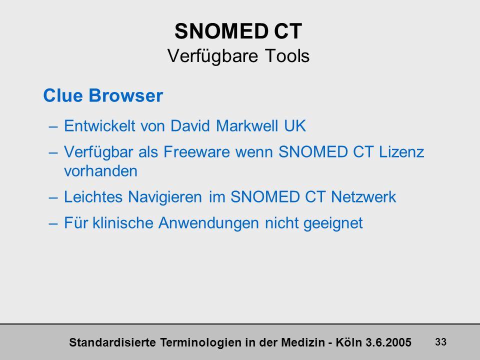 SNOMED CT Verfügbare Tools