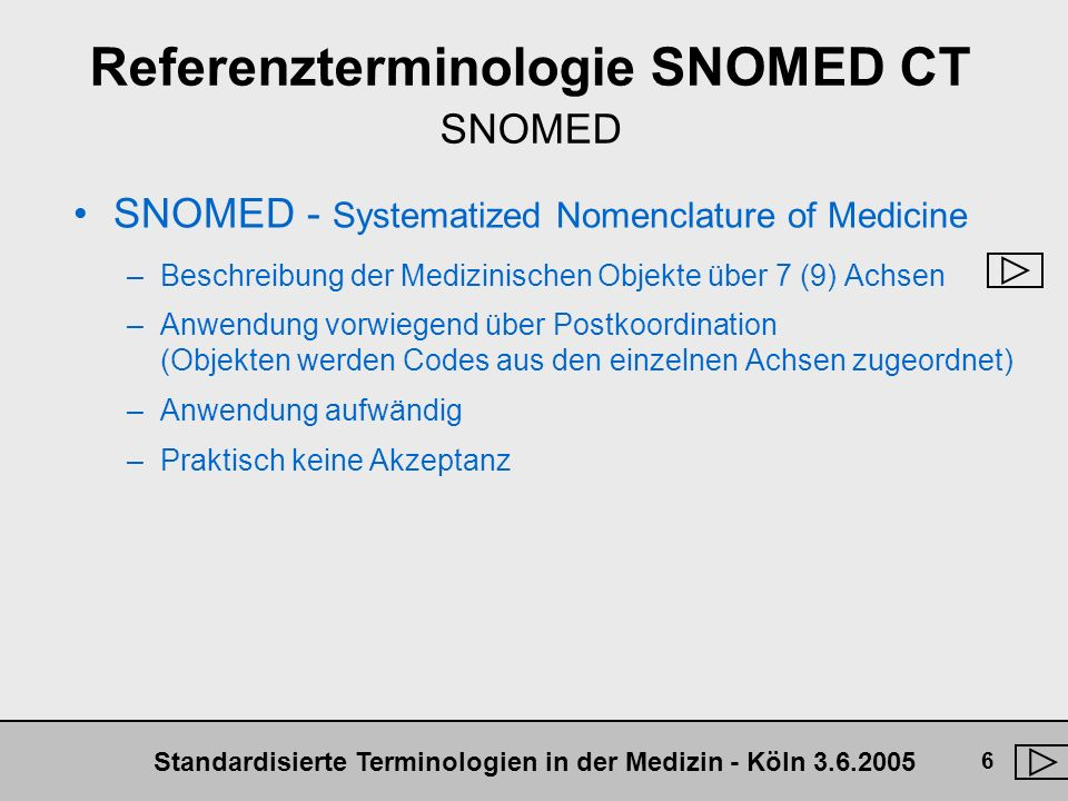Referenzterminologie SNOMED CT SNOMED