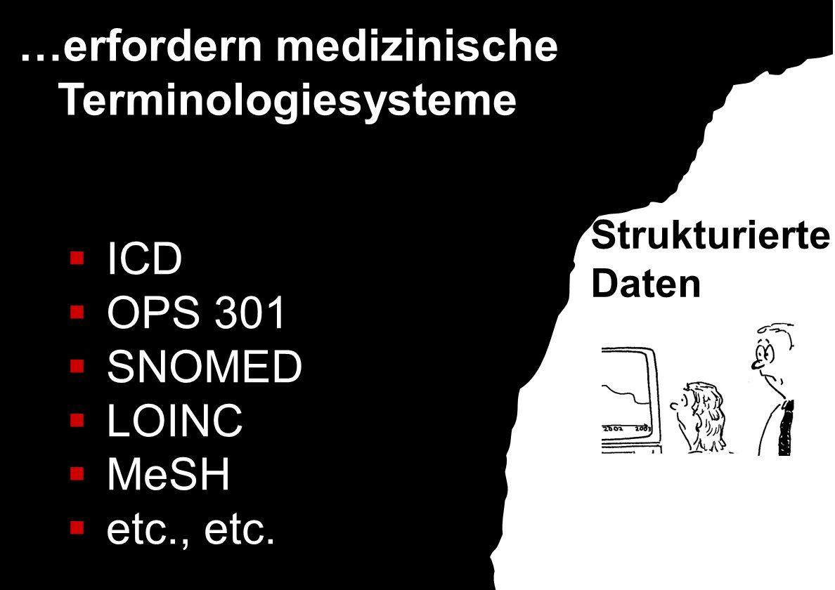…erfordern medizinische Terminologiesysteme
