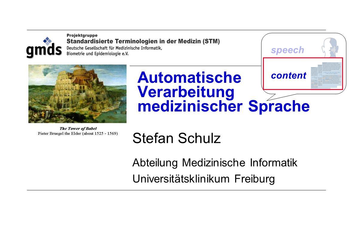 Automatische Verarbeitung medizinischer Sprache