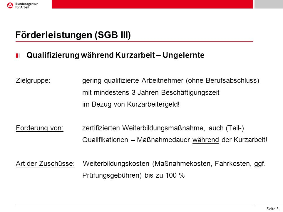 Förderleistungen (SGB III)