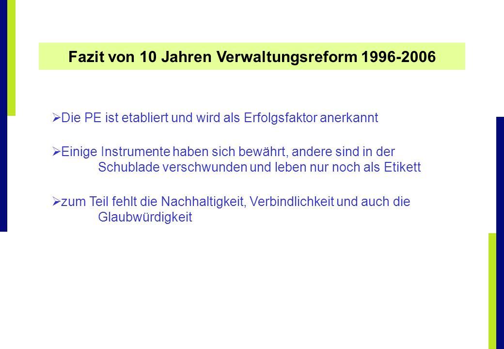Fazit von 10 Jahren Verwaltungsreform 1996-2006