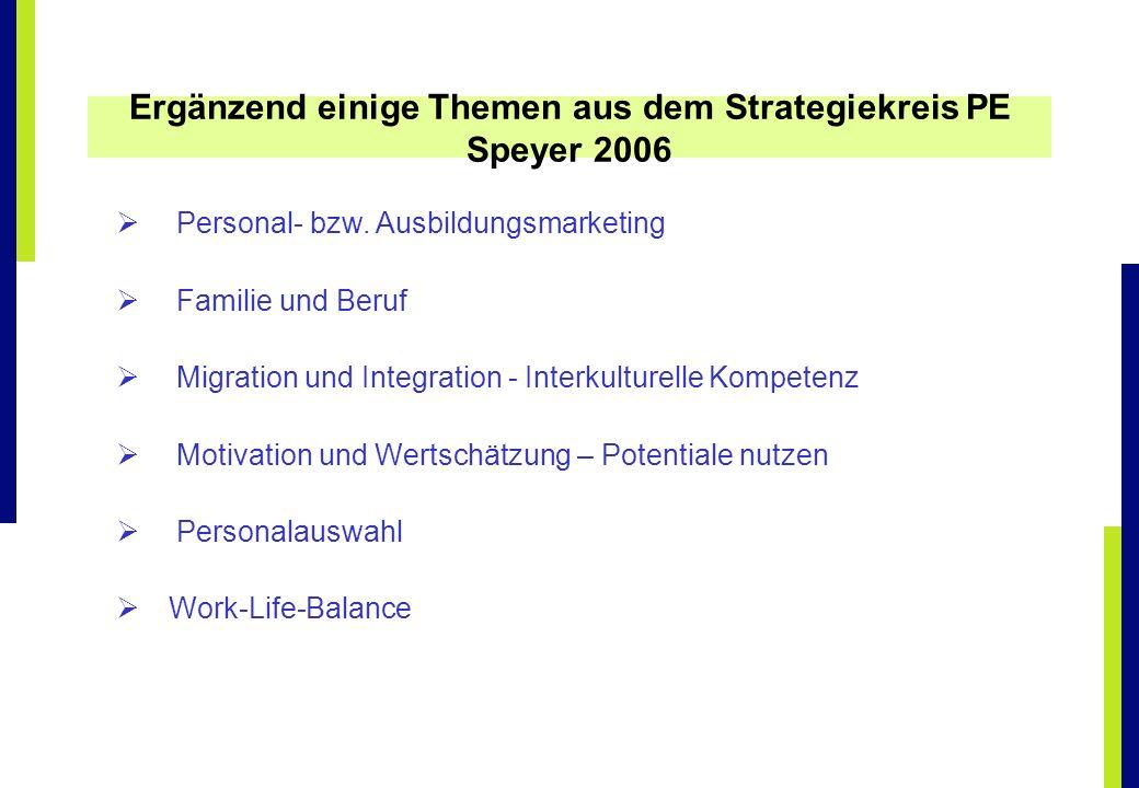 Ergänzend einige Themen aus dem Strategiekreis PE Speyer 2006