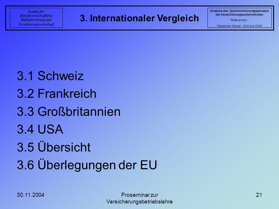 3. Internationaler Vergleich