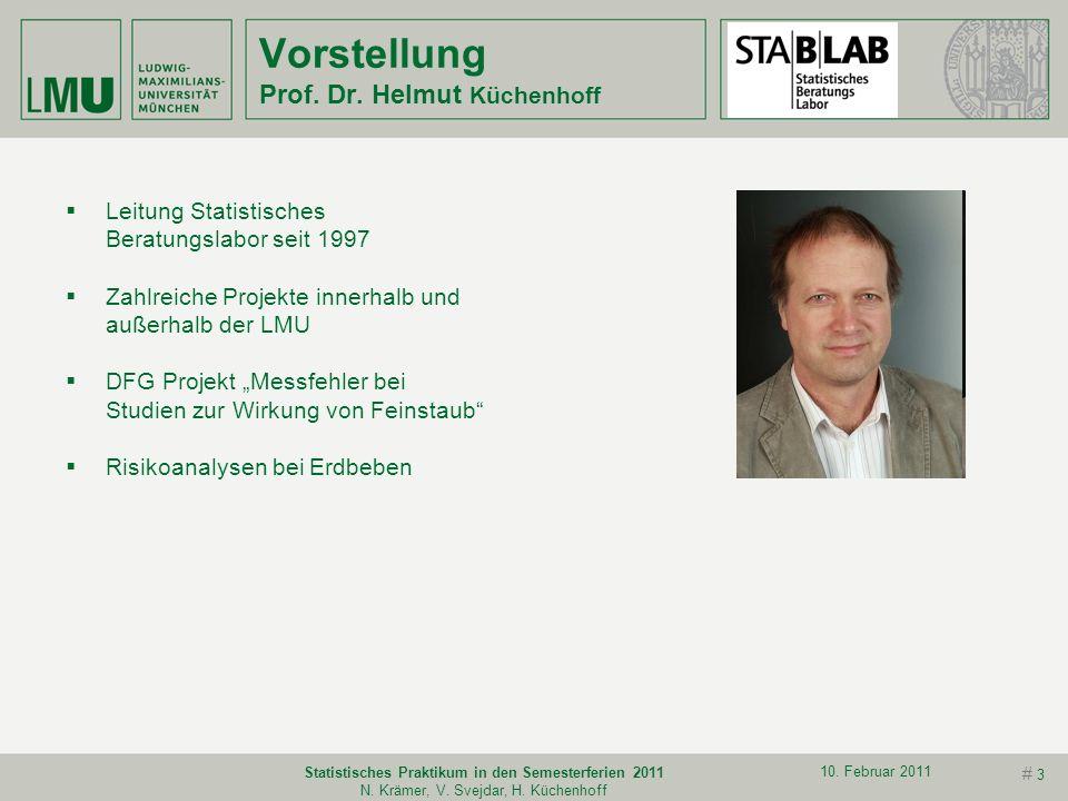 Vorstellung Prof. Dr. Helmut Küchenhoff
