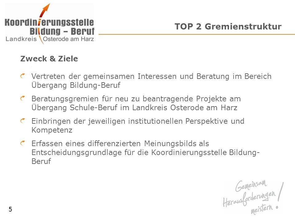 TOP 2 Gremienstruktur Zweck & Ziele