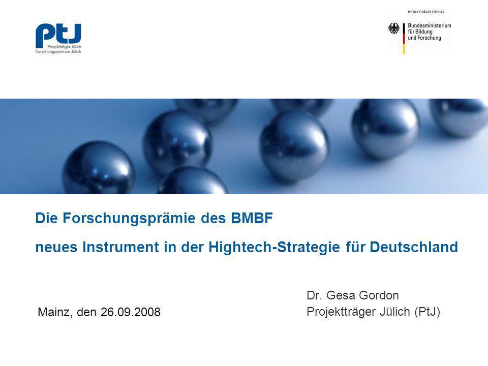 Dr. Gesa Gordon Projektträger Jülich (PtJ)
