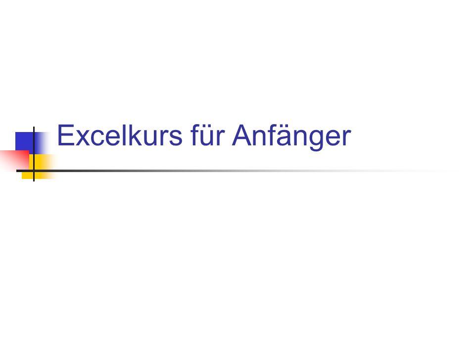 Excelkurs für Anfänger
