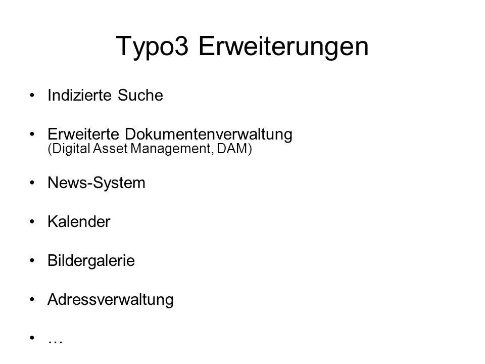Typo3 Erweiterungen Indizierte Suche