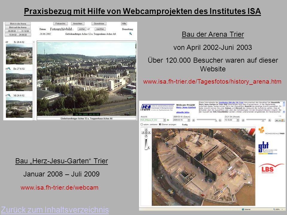 Praxisbezug mit Hilfe von Webcamprojekten des Institutes ISA