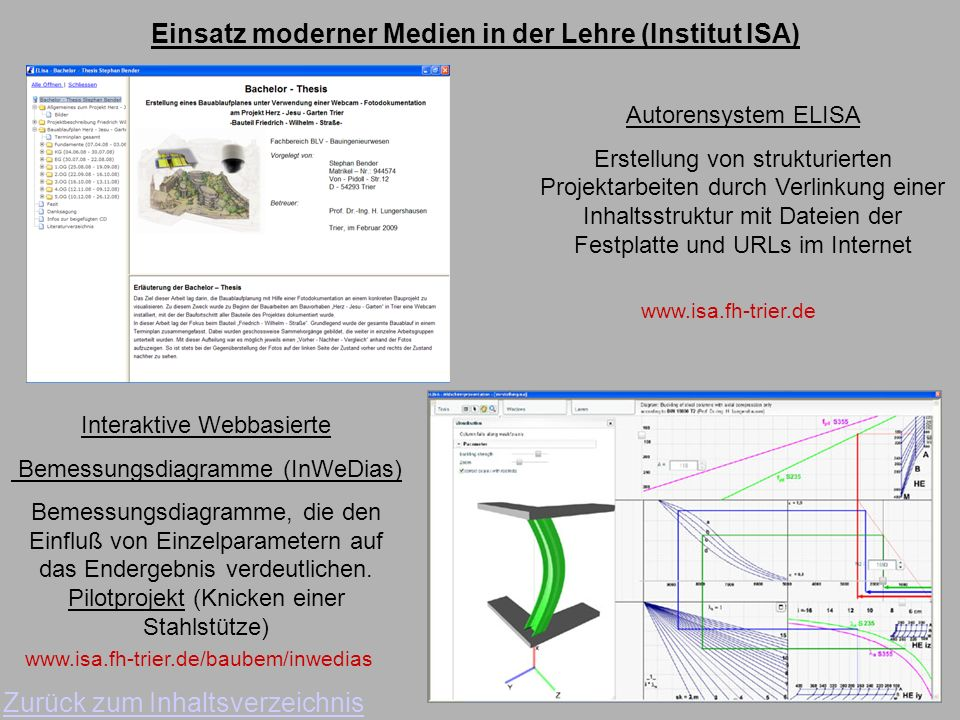 Einsatz moderner Medien in der Lehre (Institut ISA)
