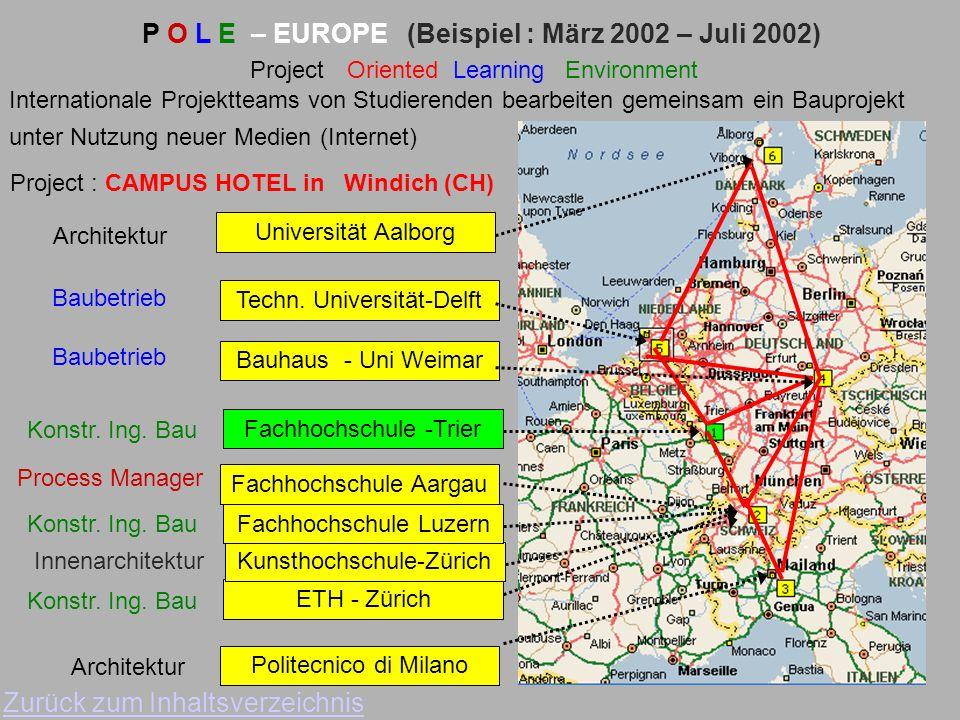 P O L E – EUROPE (Beispiel : März 2002 – Juli 2002)