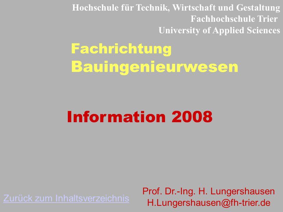 Bauingenieurwesen Information 2008 Fachrichtung