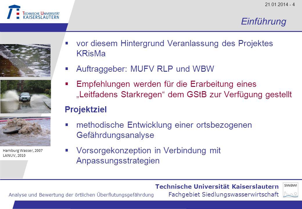Einführung vor diesem Hintergrund Veranlassung des Projektes KRisMa