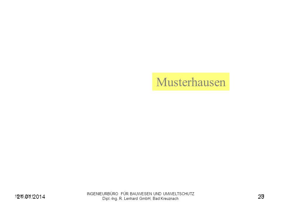 Musterhausen INGENIEURBÜRO FÜR BAUWESEN UND UMWELTSCHUTZ Dipl.-Ing. R. Lenhard GmbH, Bad Kreuznach.