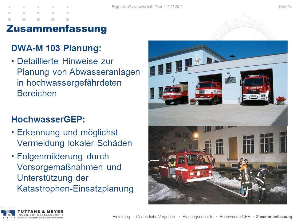 Regionale Wasserwirtschaft, Trier · 19.05.2011